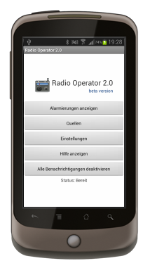 Radio Operator Push 2.0 (beta) auf dem Nexus One